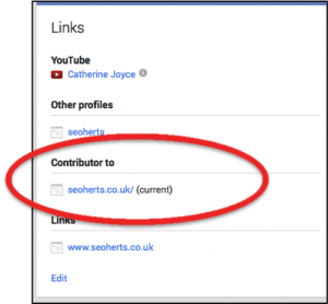 Google+ profile contributor